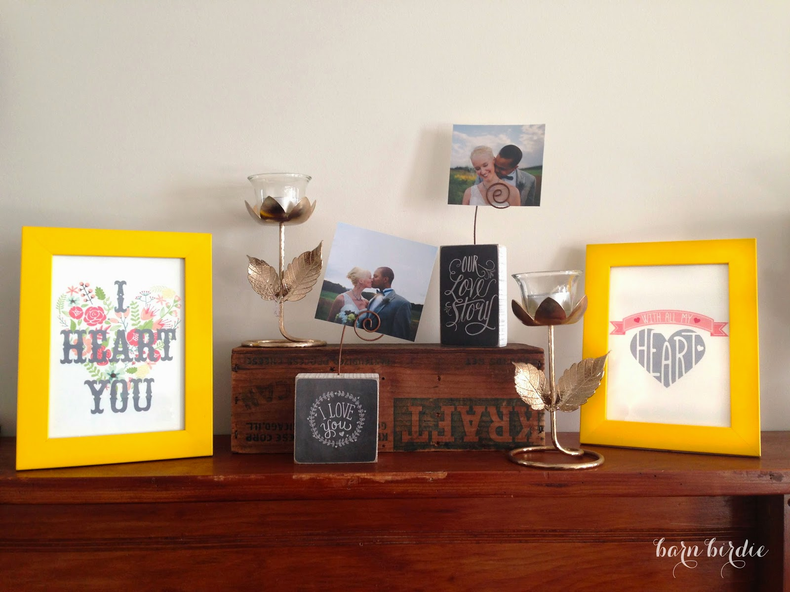 Barn Birdie | How to create a not so Valentine mantle!