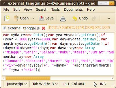 external_javacsript_gedit
