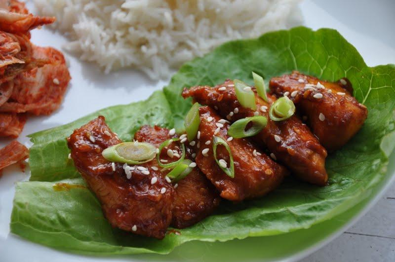 Slice of Rice: Korean Spicy Chicken Barbecue (Dak Bulgogi)