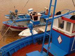Kleurrijke bootjes in Tavira