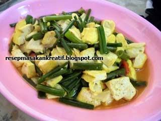 Resep sayur tahu kembang bawang