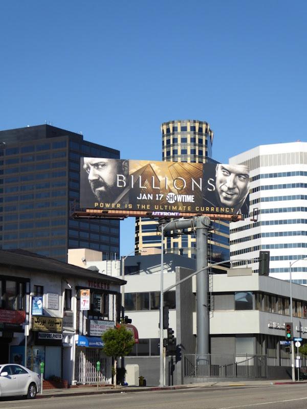 Billions Showtime series billboard