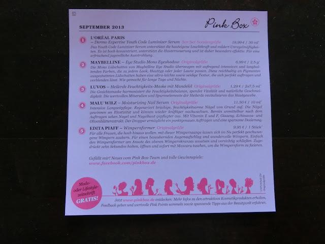 Pink Box September Beschreibung