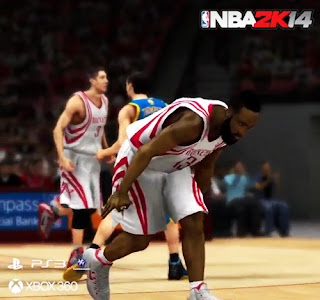 James Harden's NBA 2K14 Celebration After Making a 3-point Shot