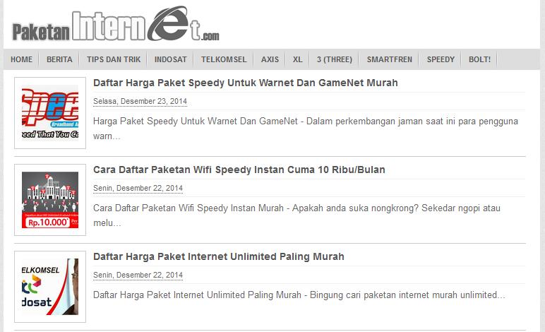 Paket Internet Unlimited Murah Terbaru 2015