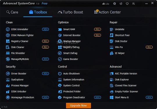 تحميل برنامج صيانة الويندوز مجانا Advanced SystemCare 7