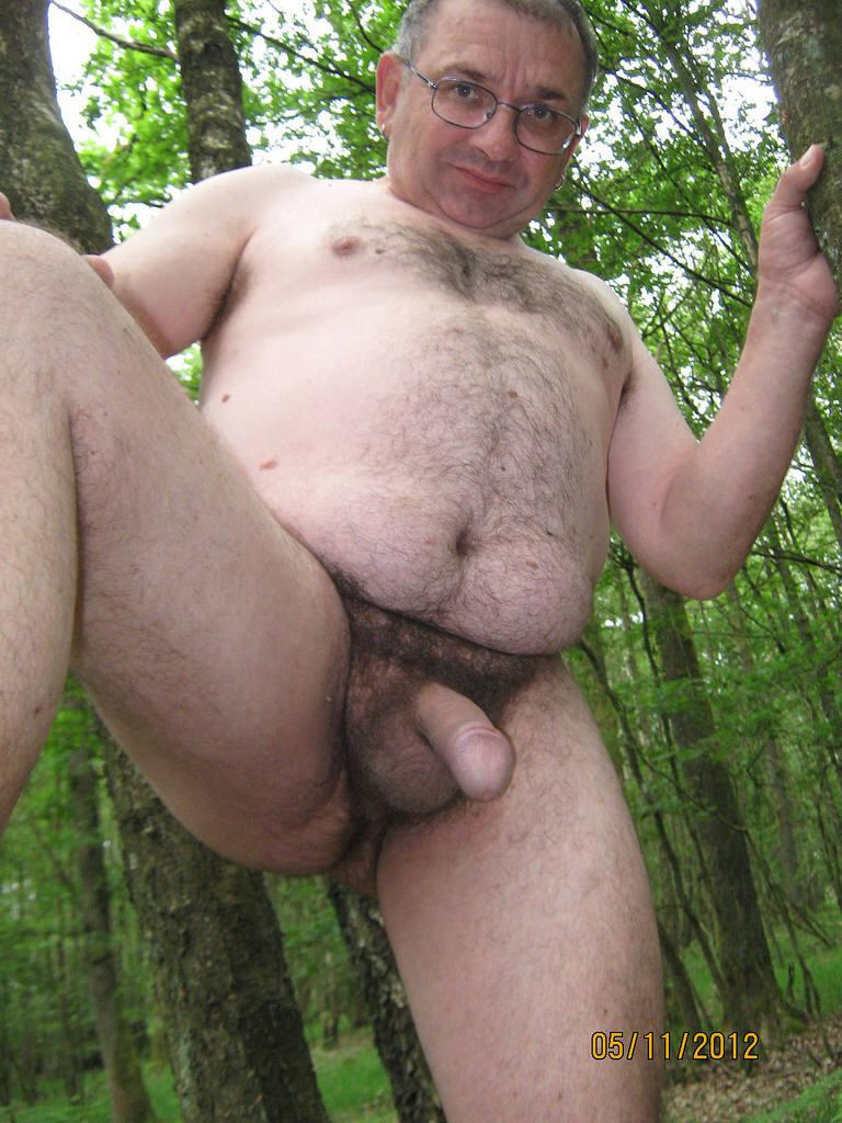 Naked Old Man Hairy Bear