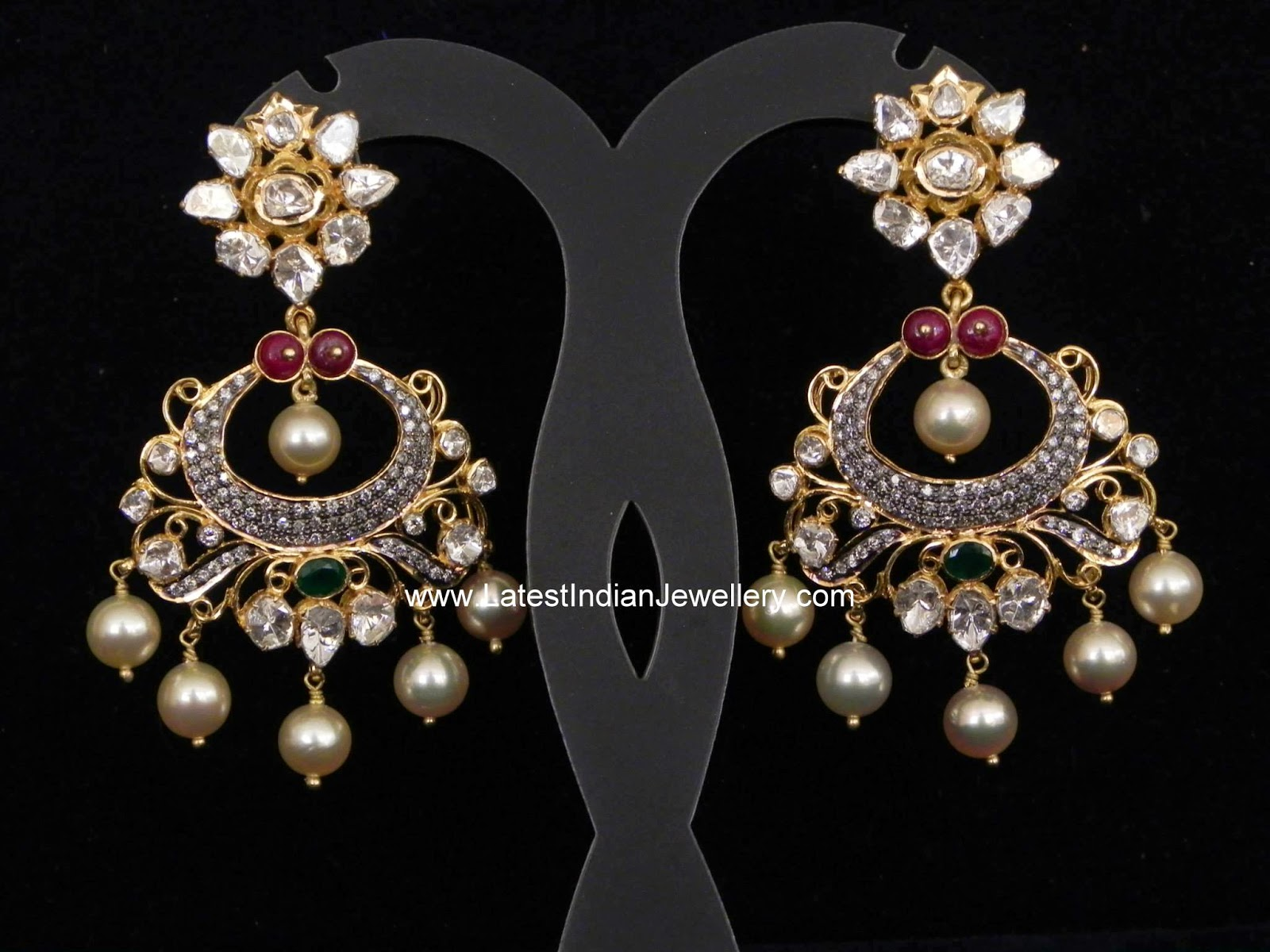 Polki ChandBali earrings