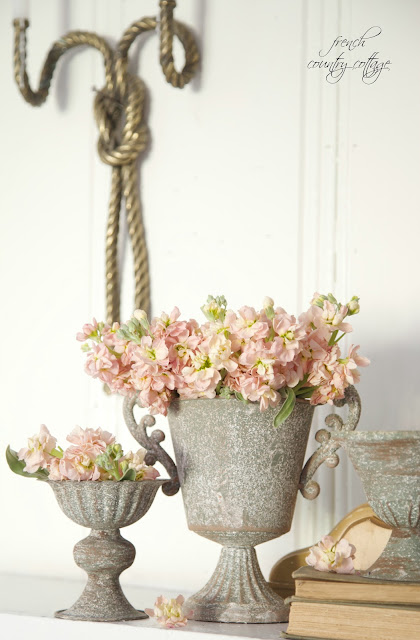 Apricot gray on the mantel french country cottage for French country blog