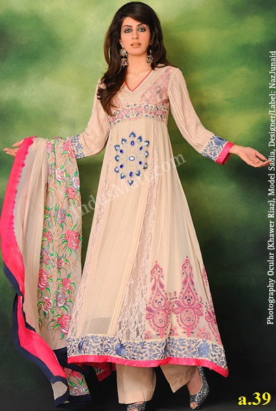 dress latest dress Most Beautiful pishwas nice colour -anarkali dress