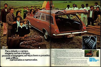 propaganda Chevrolet Opala Caravan - 1975. brazilian advertising cars in the 70. os anos 70. história da década de 70; Brazil in the 70s; propaganda carros anos 70; Oswaldo Hernandez;