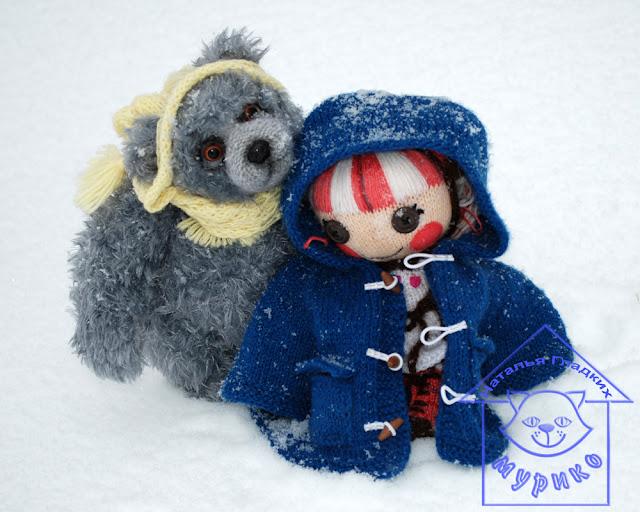 Куколка, игрушка, Lalaloopsy kat, мишка, тедди, авторская игрушка, вязанная игрушка, вязание спицами, детям, мурико