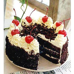 the glass dish black forest cake