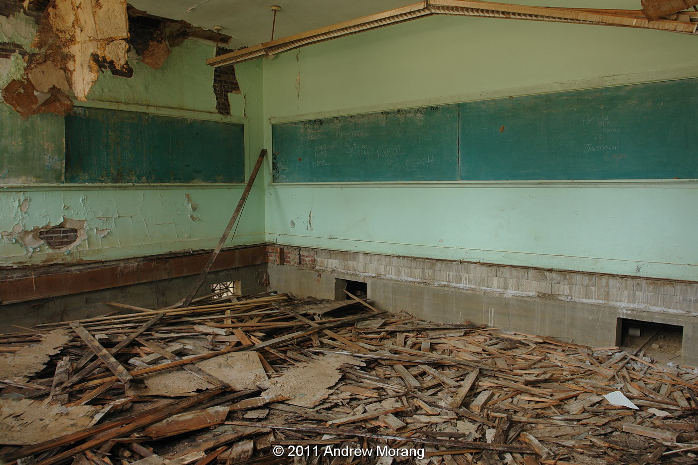 The rooms were high ceilinged and had been painted with the ghastly  #614930