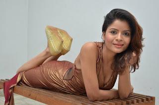 Actress Gehana Vasisth  Stills in Sleeveless Long Dress  252815.jpg