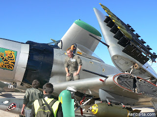 Douglas A-1H Skyraider F-AZHK with the pilot Mr. Christophe Brunelière