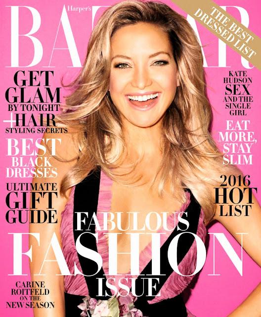 Actress @ Kate Hudson - Harper's Bazaar Magazine, December 2015