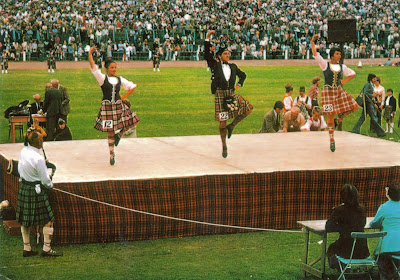 Highland Scottish Dancers At Highland Games