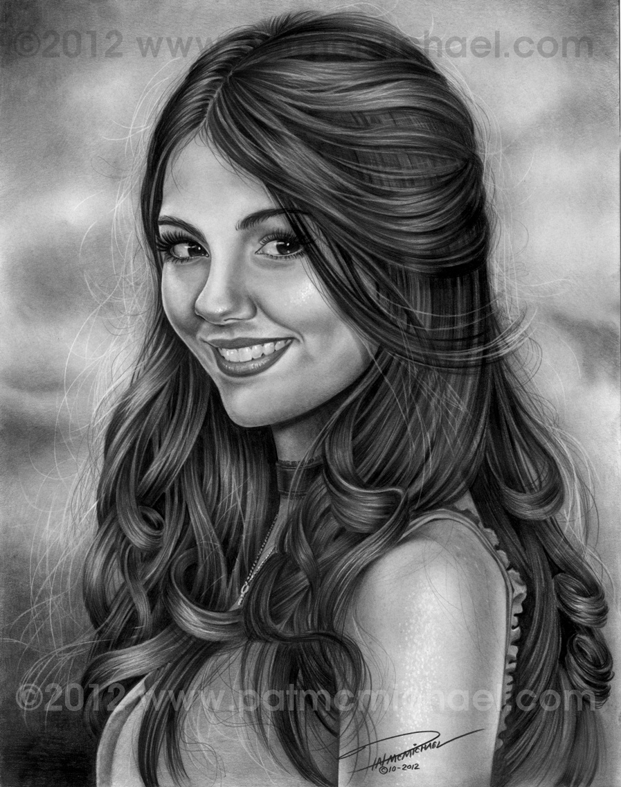 Graphite Drawings And What Not Victoria Justice Pencil