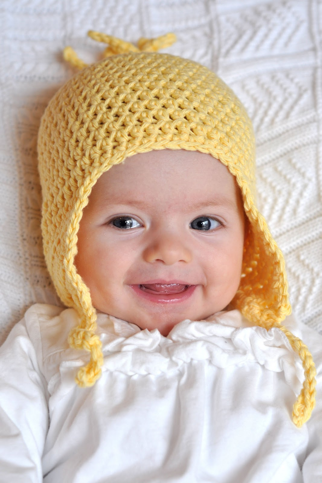 Crochet Pattern For Newborn Hat With Ear Flaps : Aesthetic Nest: Crochet: Flippy Floppy Earflap Hat for ...