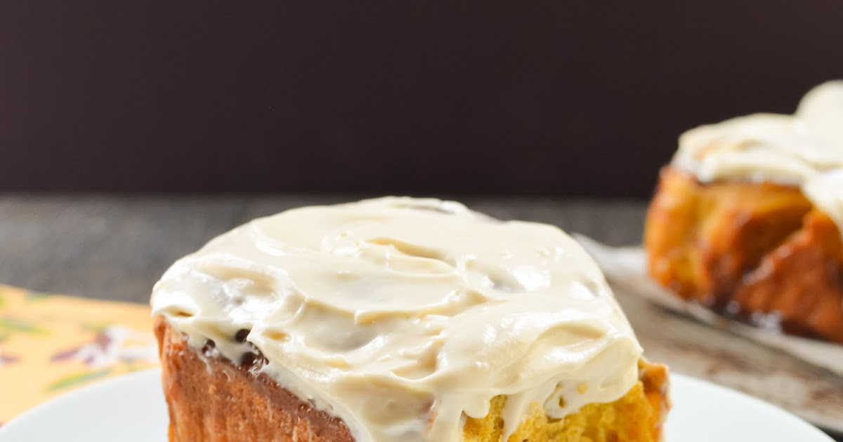 Pumpkin Cinnamon Rolls With Maple Cream Cheese Frosting # ...