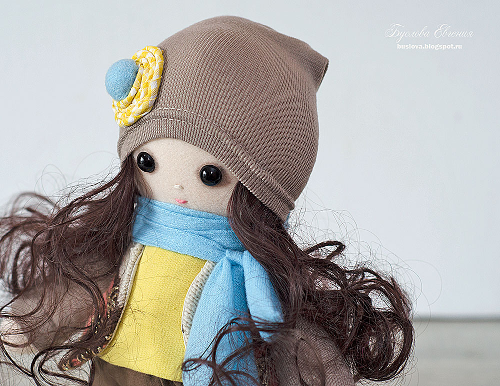 кукла, ручная работа, текстильная кукла, Буслова Евгения