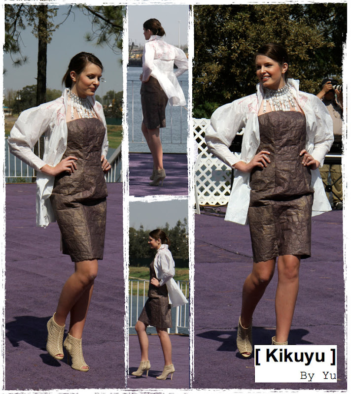 Upcycling fashion dress & jacket