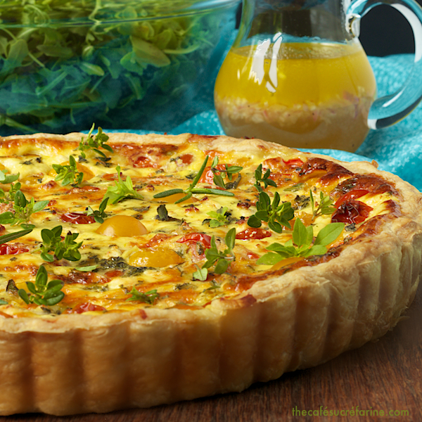 ... and lemon goat cheese tart print a super delicious tart that