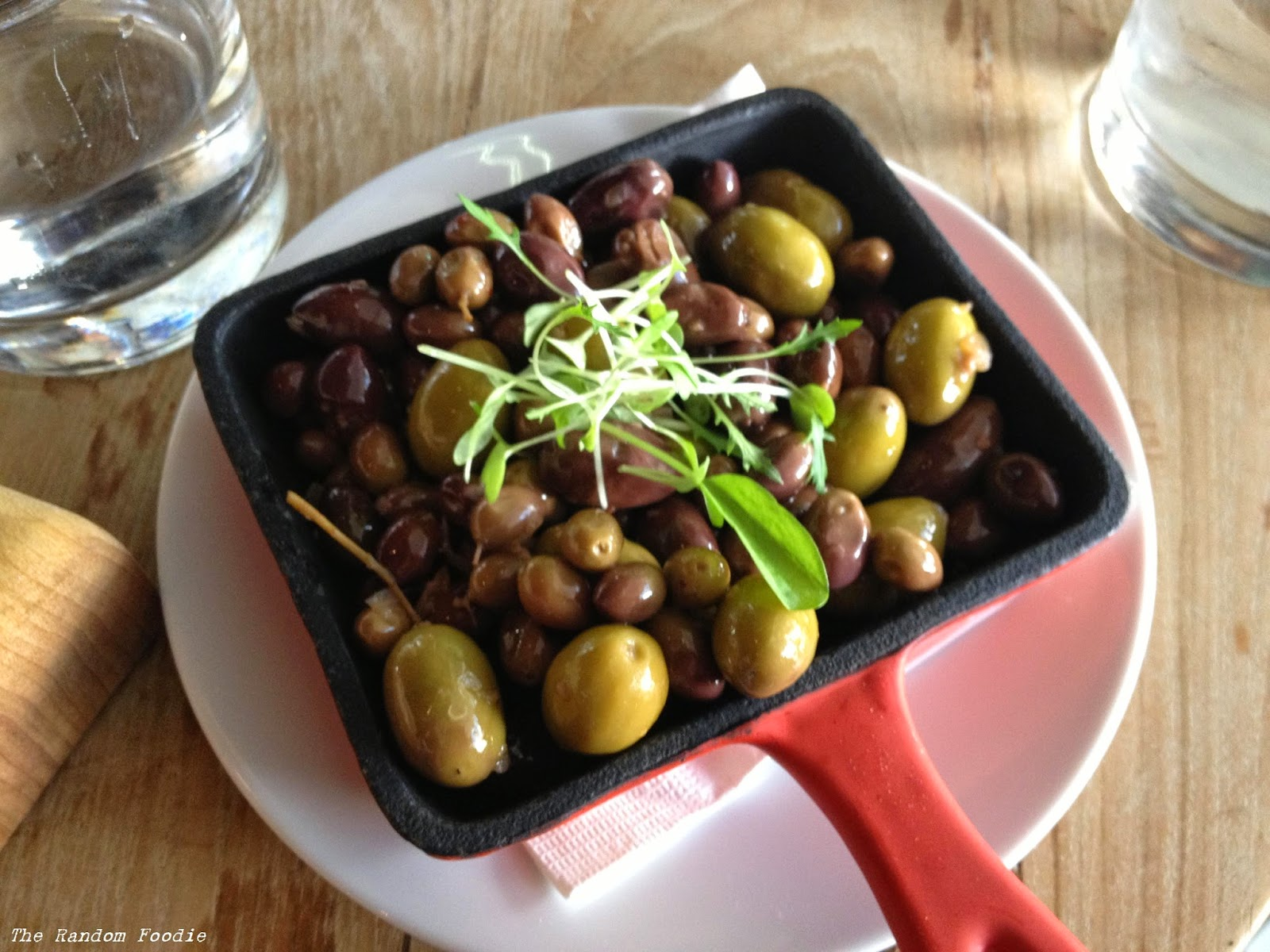 ... young olives and capers marinated with chilli, garlic and sage ($6.00