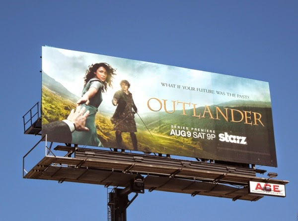 Outlander season 1 Starz billboard