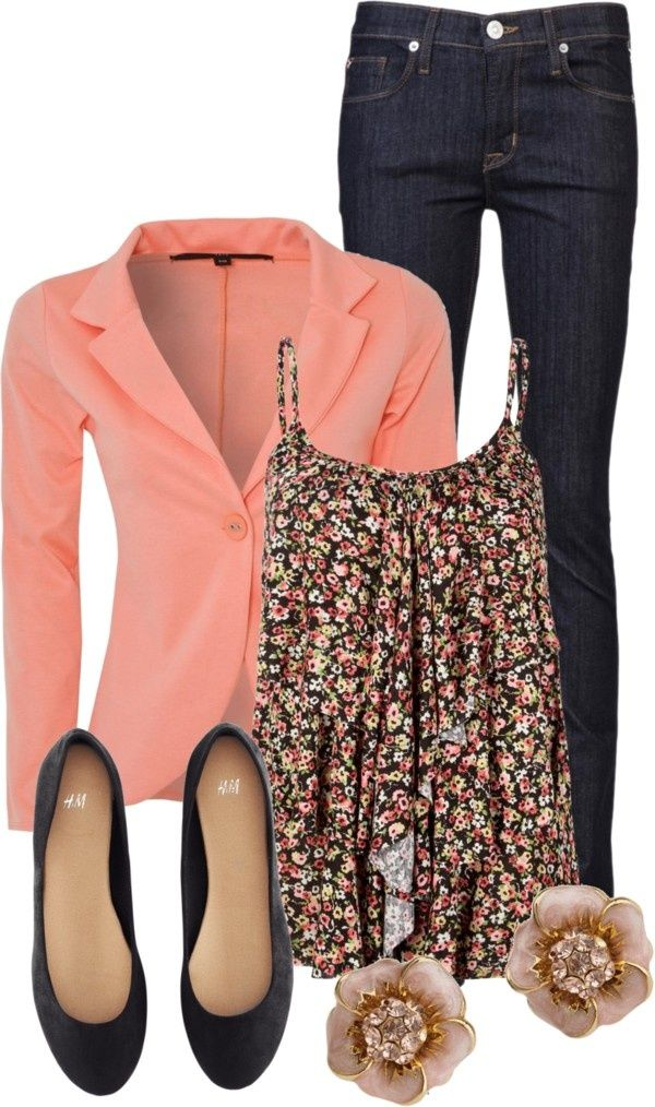Outfit fashion with full tilt floral top