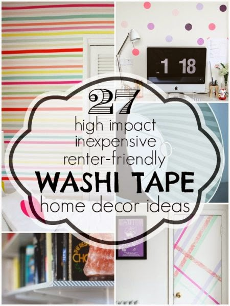 27 Washi Tape Home Decor Ideas