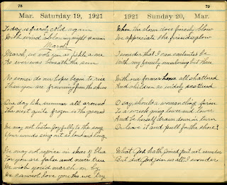 Two pages from the Mary Frances Benton Connor diary