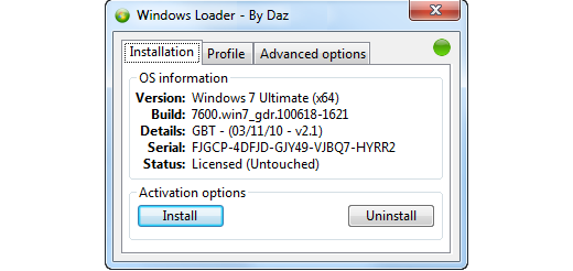 Windows Loader V1.9.7