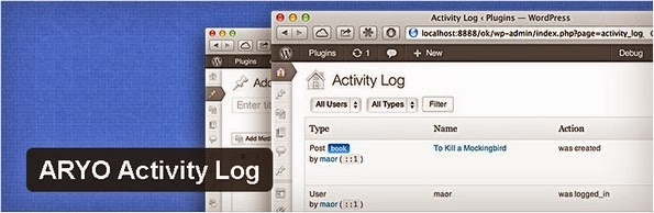 ARYO activity log audit trail plugin