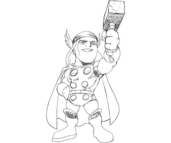 #3 Thor Coloring Page
