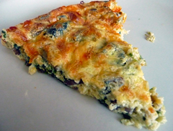 Spinach and Mushroom Quiche