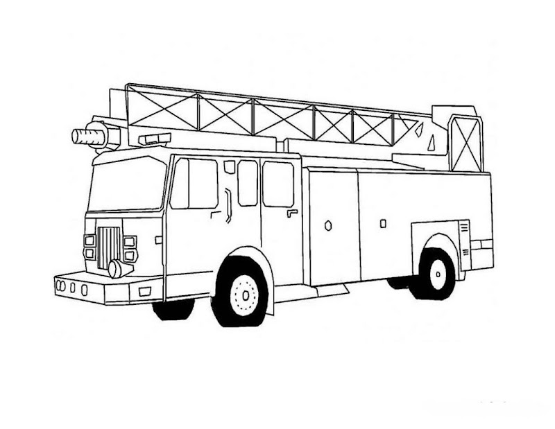 Fire Truck Coloring Pages title=