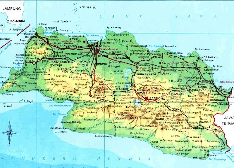 West Java Indonesia Map