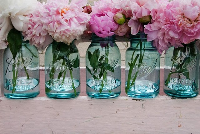 Peony And Blue Mason Jar Inspiration Wedding HELP Weddingbee