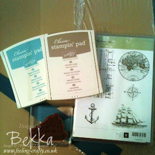 Supplies for The Open Sea Masculine Card by Stampin' Up! Demonstrator Bekka Prideaux - made to share with her team - join them here
