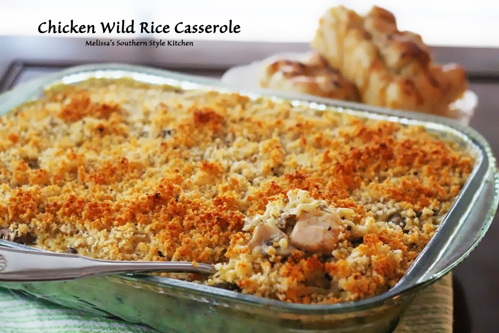 Chicken and wild rice casserole. It's a company worthy dish and can be ...