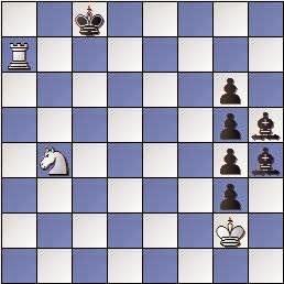 Estudio de Francesc Vivas Font, Schweizerische Arbeiterschach Journal 1954, blancas juegan y ganan