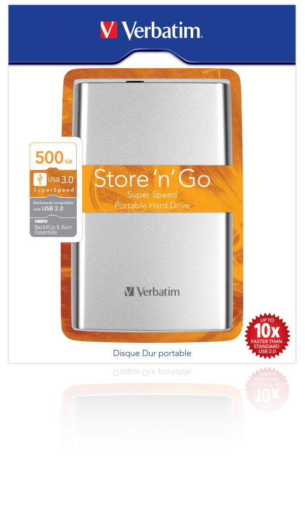 Disco hard disk esterno 500 gb 2 5 verbatim usb 2 0 hard - Porta hard disk esterno 2 5 ...