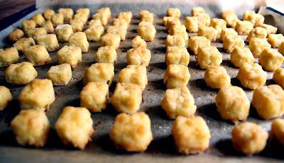 Oppskrift Friterte Tofuterninger Tapas Hvordan Tilberede Tofu Kikertmel Sunn Snacks