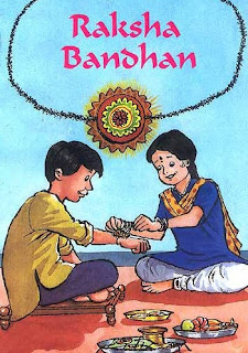 Sister tying rakhi to brother Humor Image