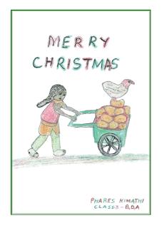 KES Christmas cards - girl