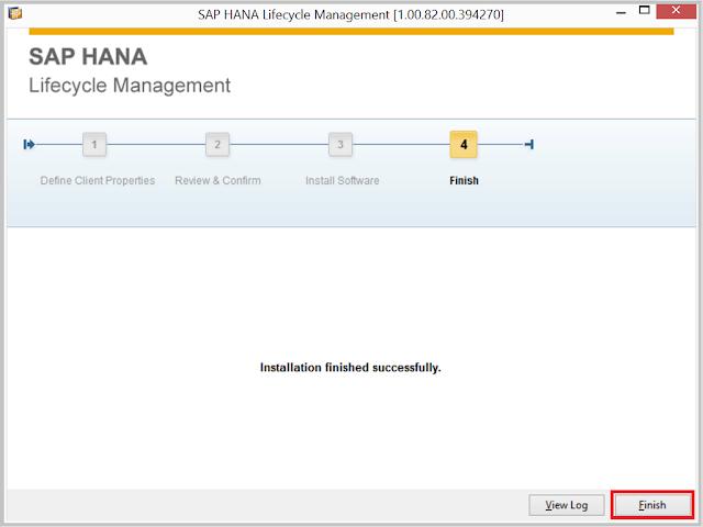 SAP HANA Client Install 4