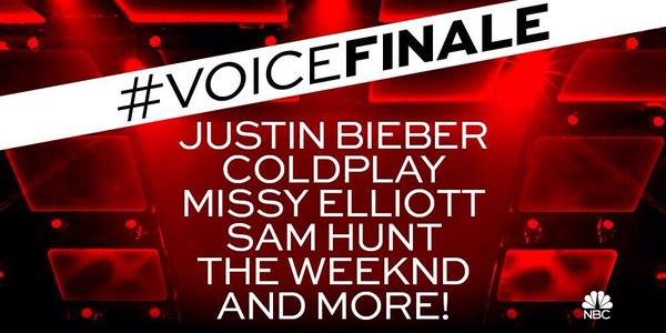 "La final de ""The Voice US"" contará con las presentaciones de Coldplay, Justin Bieber, Missy Elliott y The Weeknd."