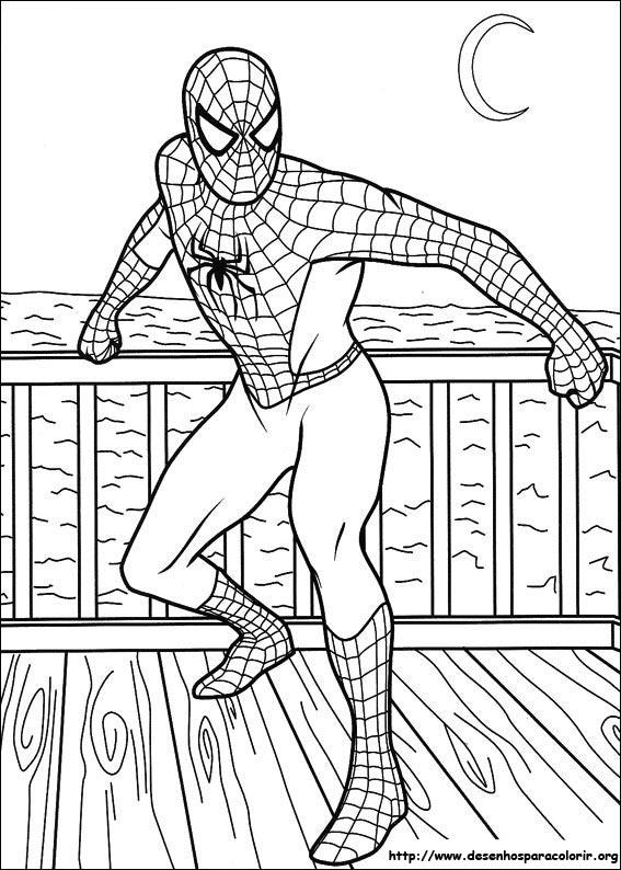 Homem aranha Desenhos Para Colorir